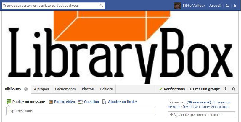 groupe Bibliobox sur Facebook